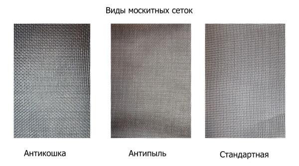 Разновидности москитных сеток
